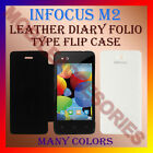 ACM-LEATHER DIARY FOLIO FLIP FLAP CASE for INFOCUS M2 MOBILE FRONT & BACK COVER