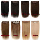 Clip In Remy 100% Human Hair Full Head One Piece Extensions Thick Double Weft