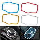 Car Multimedia Buttons Cover Molding Trim For BMW 3 5 7 Series X5 X6 2013 2014