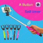 Extendable Wired Remote Shutter Handheld Selfie Stick Monopod For iPhone 6 5S 4S