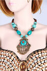 New Tribal Belly Dance Costume Accessory Necklace Jewelry Turquoise 2 Colors