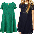 Unusedr Sexy Lace Floral Casual Short Party Evening Cocktail Mini Dress On Sale