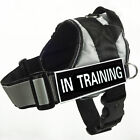 Reflective SERVICE DOG Vest Big Harness Velcro Patches IN TRAINING THERAPY DOG