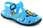 New Boys/Childrens Blue Despicable Me Buckle Fastening Jellys Sandals. UK SIZES