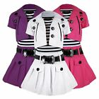 GIRLS BELTED SLEEVELESS DRESS & SHORT SLEEVE JACKET DIAMANTE APPLE DESIGN 2-10 Y