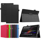 "Leather Folding Folio Stand Cover Case  For Sony Xperia Z4 10.1"" SGP712 Tablet"