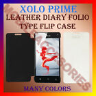 ACM-LEATHER DIARY FOLIO FLIP FLAP CASE for XOLO PRIME MOBILE FRONT & BACK COVER