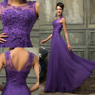 FREE SHIP Long Vintage Lace Wedding Bridesmaid Evening Prom Party Formal Dress