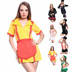 Ladies 4 Styles Role Play Fancy Dress Sexy Cop Nurse School Girl Cosplay Outfit