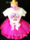Baby Minnie Mouse Hot Pink Girl 1st First Birthday Tutu Outfit Shirt Set