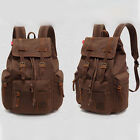 Retro Vintage Canvas Backpack Rucksack Travel Sports Satchel School Hiking Bag
