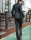 New Mens  Fit Suits one-button set Jacket pants Blazers Coats Wedding Formal