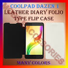 LEATHER DIARY FOLIO FLIP FLAP CASE for COOLPAD DAZEN 1 MOBILE FRONT & BACK COVER