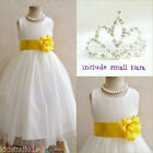 Adorable Ivory/yellow sunbeam flower girl dress FREE SMALL TIARA all sizes