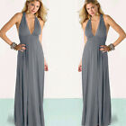 Women Summer Long Maxi Evening Party CocktaiL Backless Beach Chiffon Dress