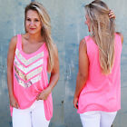 Fashion Womens Summer Vest Top Sleeveless Blouses Casual Tank Tops T-Shirt Lace