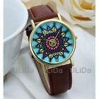 Fashion Casual Colors Feather Dial Women Lady Leather Band Quartz Dress Watches