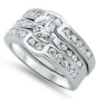 Sterling Silver Round Clear CZ Wedding Engagement Promise Love Ring Size 3-11