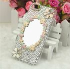 3d Magic Mirror Crystal Bling Rhinestones Flowers  Hard Case Cover for iphone6