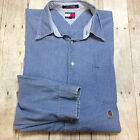 VINATGE TOMMY JEANS LS BUTTON DOWN DENIM SHIRT MENS SIZE XL X-LARGE