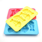 Cute Silicone Fish Bone Shaped Ice Cube Trays Mold Maker Red/Blue/Yellow T. 04