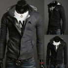 Men's Slim Top Handsome Sexy Hoody Woolen Filling Jacket Coat -HF