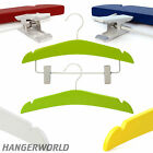 15 Childrens Wooden Top Clip Coat Hanger Set Baby Clothes 30cm Hangerworld