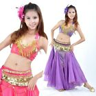 SF14 Belly Dance Costume 3pcs Peacock Top Hip Scarf Fishtail Skirt 9 Colors