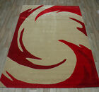 7ft x 5ft appox FLORAL RUGS HAND CARVED  CHINESE LARGE QUALITY  RED FLORAL RUGS