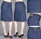 NWT WOMENS MID LENGTH PENCIL SKIRT STRETCH DENIM SIZE S-XXXL  11 COLOR SG-75575