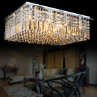Modern Crystal Ceiling Light Pendant Lamp Chandelier Flush Mount Stereo Cuboid