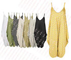 Z26 NEW WOMENS ROMPER V NECK LOOSE BAGGY FIT LADIES SUMMER CAMI JUMP HAREM SUIT