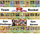 Pokemon Rare Card Gym Heroes, Gym Challenge & Team Rocket Charizard Blastoise +
