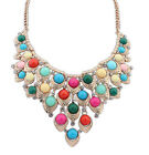 Women geometric Necklace exaggerated gem necklace women choker chain neclace
