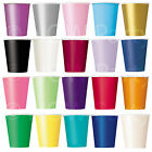 14 Paper CUPS (9oz)  Plain Colours Birthday BBQ Party Tableware Catering