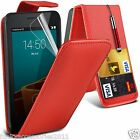 Vodafone Smart First 6✔Top Flip Leather Phone Case Skin Cover+LCD Film+Pen