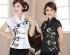 white black Chinese Women's style cotton Top Dress/T-shirt blouse 8.10.12.14.16