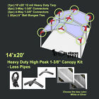 14'x20' Heavy Duty 1-3/8'' High Peak Carport Canopy Kit *PIPE POLES NOT INCLUDED