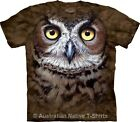 Great Horned Owl Face Adults Bird of Prey T-Shirt by The Mountain - S-3XL+
