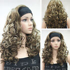 Stylish Medium Blonde brown curly Anime Cosplay women's wig A1000