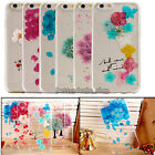 Sakura Pressed Real Flower Floral TPU Skin Case Cover For iPhone 5 5S / 6 4.7''