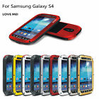 LOVE MEI Aluminum Metal Waterproof Protective Case for Samsung Galaxy S3 S4 S5 6