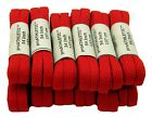 Bulk 12 Pair Pack Flat Athletic Laces * RED *