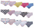 Girls 5 Pack Knickers Underwear Pants Cotton Briefs 7-13YEARS 100% Cotton