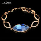 Anti Allergy Big Blue Crystal Hand Chain Bracelet & Bangle New Jewelry For Women