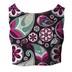 Sassy Paisley Sleeveless Crop Top - Sleeveless XS - 5XL