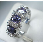 Jewelry Fashion Woman's Wedding Ring 10KT White Gold Filled amethyst Size:7/8/9