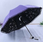 8 Colors lace women new folding parasol for windproof anti Uv sun umbrellas rain