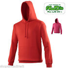 NEW AWDis Men Womens Hoodie Top Classic Fleece Casual Sport Leisure Red Pink