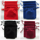 10 - 100 Red & Black Velvet Gift Bags Thick Pouches Jewellery Packing Package